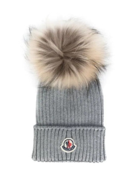 Classic Knitted Beanie by Moncler Kids