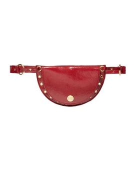 Kriss Convertible Embellished Textured Patent Leather Belt Bag by See By ChloÉ
