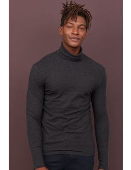 Polo Neck Top Slim Fit by H&M