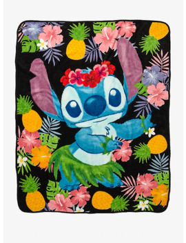 Disney Lilo & Stitch Hula Stitch Throw Blanket by Hot Topic