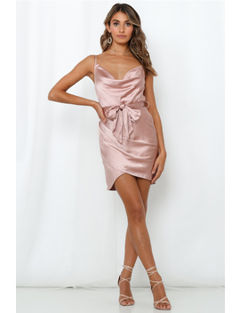 Back To The Island Dress Rose Gold by Hello Molly