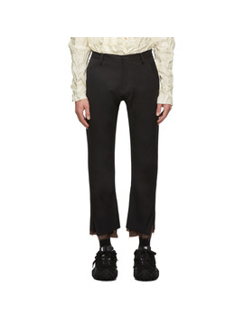 Black Slim Trousers by Sulvam