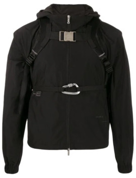 Bucked Straps Hooded Jacket by Heliot Emil