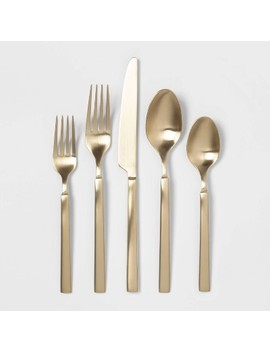 20pc Stainless Steel Silverware Set Champagne   Project 62™ by Shop This Collection