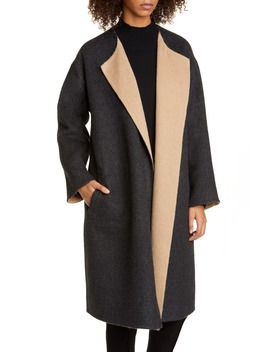 Reversible Alpaca & Wool Blend Coat by Eileen Fisher