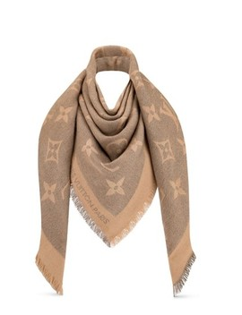 beige-limited-edition-monogram-giant-cashmere-silk-scarf_wrap by louis-vuitton