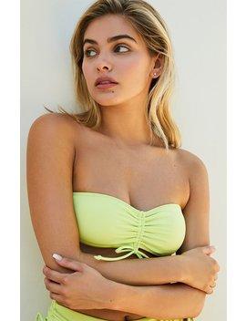La Hearts By Pac Sun Abigail Cinched Tie Bandeau Bikini Top by Pacsun