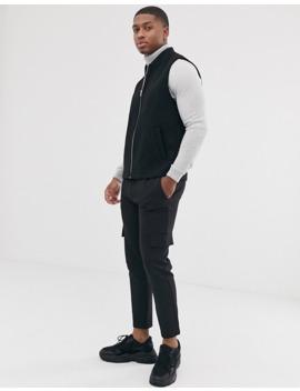 asos-design-wool-mix-vest-in-black by asos-design