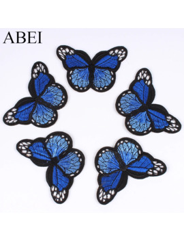 6pcs/Lot Cartoon Embroidered Butterfly Patches Iron On Sew On Clothes Appliques For Jeans Backpack Shoes Hats Coats Diy Stickers by Ali Express.Com