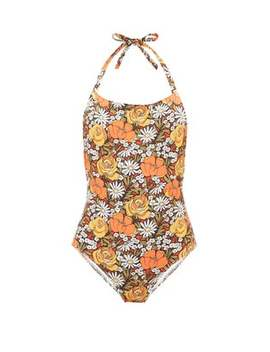 X Re/Done Woodstock Floral Print Swimsuit by Solid & Striped
