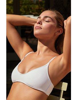 La Hearts By Pac Sun Madi Binded Ribbed Bikini Top by Pacsun