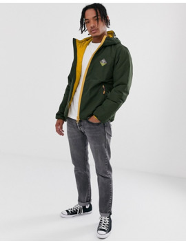 Barbour Beacon Leith Casual Contrast Zip Jacket In Sage by Barbour
