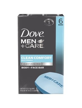 Dove Men+Care Body And Face Bar Clean Comfort 4 Oz, 6 Bar by Dove Men+Care