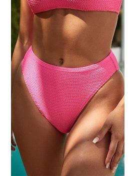 La Hearts By Pac Sun Kelsey Scrunch High Waisted Bikini Bottom by Pacsun