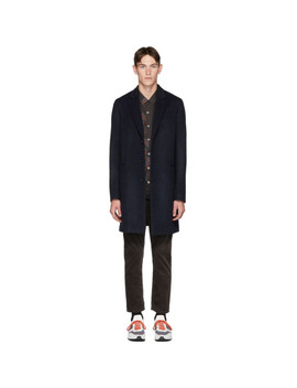 Navy Wool Epsom Coat by Ps By Paul Smith