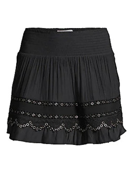 Darin Grommet Pleated Skirt by Ramy Brook
