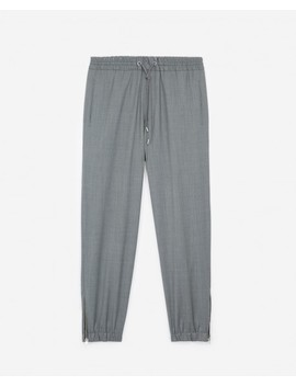 Grey Wool Joggers Elastic Waist Drawstrings by The Kooples