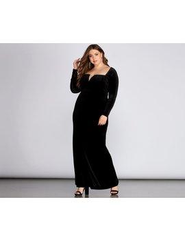 Kelly Formal Velvet Affair Dress by Windsor