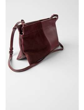 Double Leather Crossbody Bag by Zara