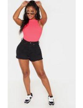 Shape Black Denim High Waist Mom Shorts by Prettylittlething