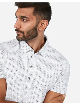 Dot Moisture Wicking Performance Stretch Polo by Express