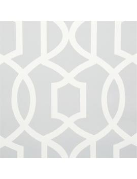 30.75 Sq. Ft. Grey Grand Trellis Peel And Stick Wallpaper by Nu Wallpaper