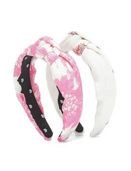 X Love Shack Fancy Set Of 2 Floral Headbands by Lele Sadoughi