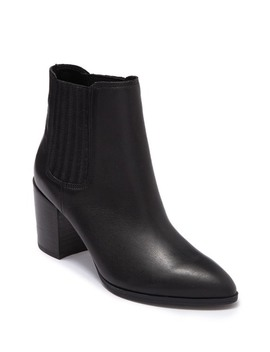 Jet Leather Chelsea Stacked Heel Boot by Steve Madden