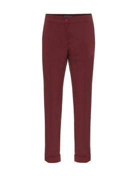 Mid Rise Stretch Wool Straight Pants by Etro