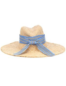 Striped First Aid Raffia Hat by Lola Hats