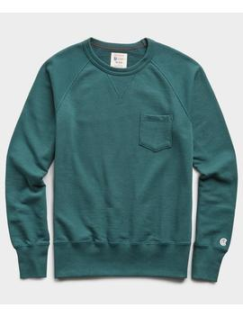 Terry Pocket Sweatshirt In Storm Green by Todd Snyder