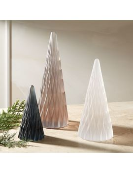 Frosted Resin Trees by Crate&Barrel
