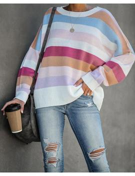 At The Cabin Striped Knit Sweater by Vici