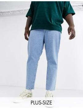 Asos Design Plus – Klassische, Steife Jeans In Hellblauer Stone Waschung by Asos