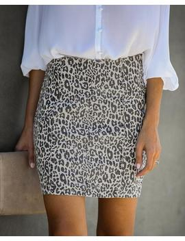 into-the-woods-cotton-leopard-mini-skirt by vici