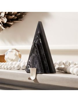 Black Marble With Nickel Hook Tree Stocking Holder by Crate&Barrel