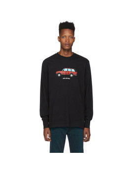 Black Sports Utility Long Sleeve T Shirt by AimÉ Leon Dore