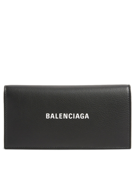 Leather Continental Wallet With Logo by Holt Renfrew