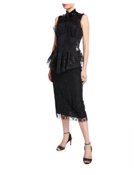 High Neck Mini Dress by Fendi