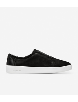 Grand Crosscourt Scallop Slip On Sneaker by Cole Haan