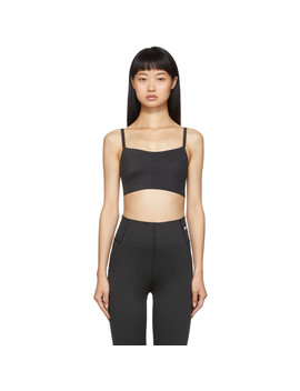 Black Indy Soft Lux Light Support Bra by Nike