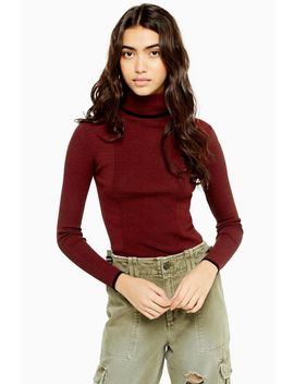 Knitted Roll Neck Jumper by Topshop