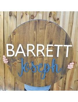 Round Name Sign, Nursery Wood Name Sign, Round Wood Name Sign, Wood Name Sign, Nursery Decor, Wood Name Sign by Etsy