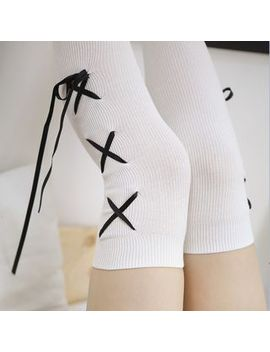 Sayaka   Lace Up Over The Knee Socks by Sayaka