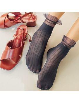 sayaka---frill-trim-socks by sayaka
