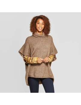 Women's Rolled Edge Poncho   Universal Thread™ by Universal Thread
