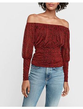 Print Off The Shoulder Tee by Express