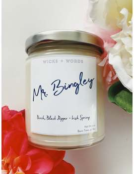 Mr. Bingley   Pride And Prejudice Inspired Natural Soy Candle by Etsy