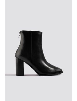 Squared Front Ankle Boots Black by Na Kd Shoes