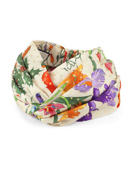 Flora Gold Star Padded Silk Headband by Gucci